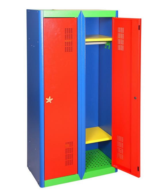 Детский шкаф для одежды металлический
