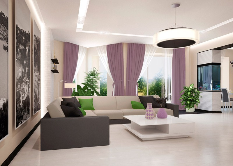 Дизайн гостиной с приятными оттенками