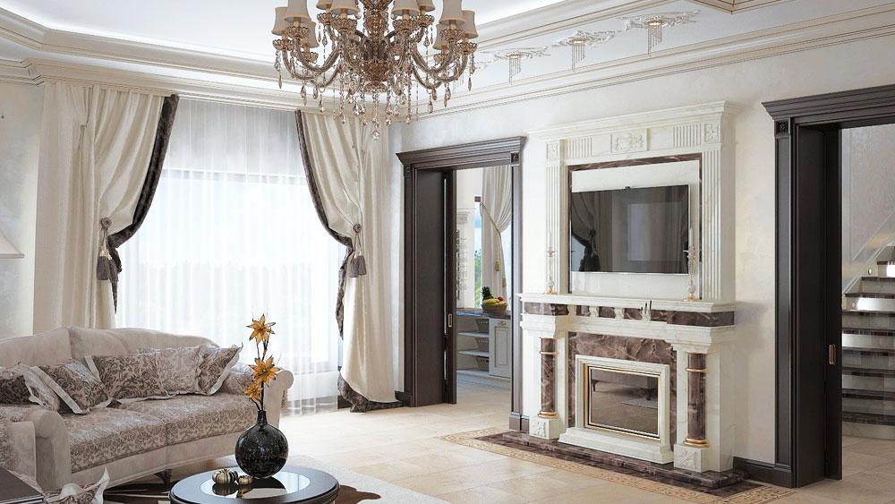 Дизайн интерьера дома в стиле неоклассика