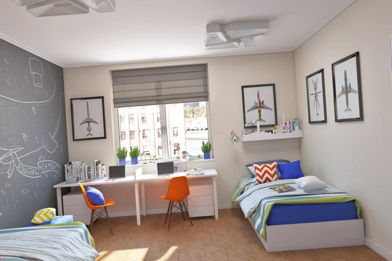 Дизайн комнаты двух подростков