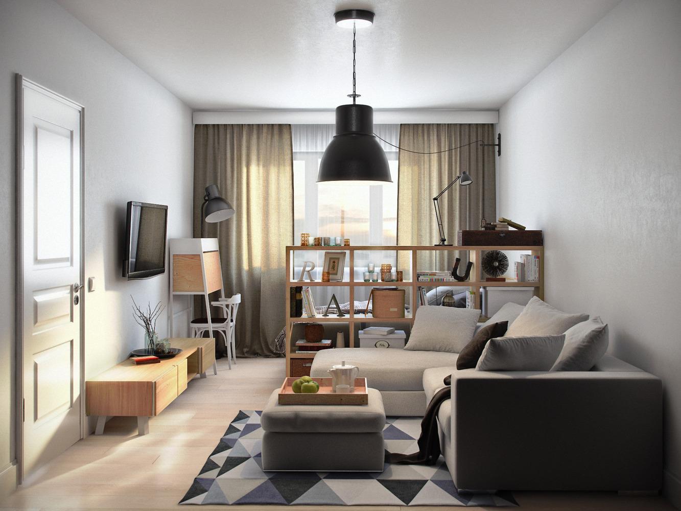 Дизайн однокомнатной небольшой квартиры