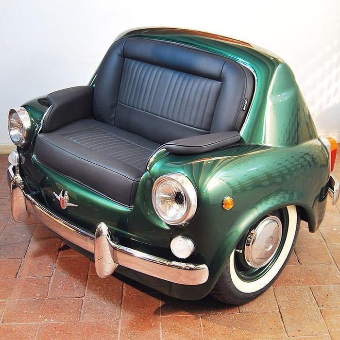 Дизайнерская мебель из автомобилей