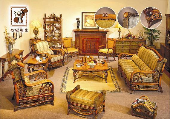 Домашняя мебель на основе ротанга