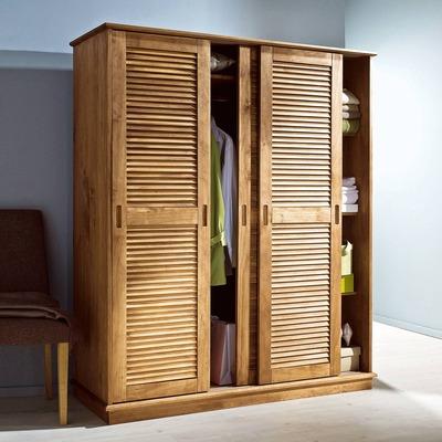 Шкаф с жалюзийными дверцами, особенности и материалы изготов.