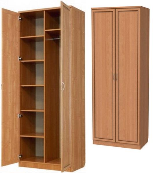 Шкаф с полками, особенности и варианты размещения элементов.