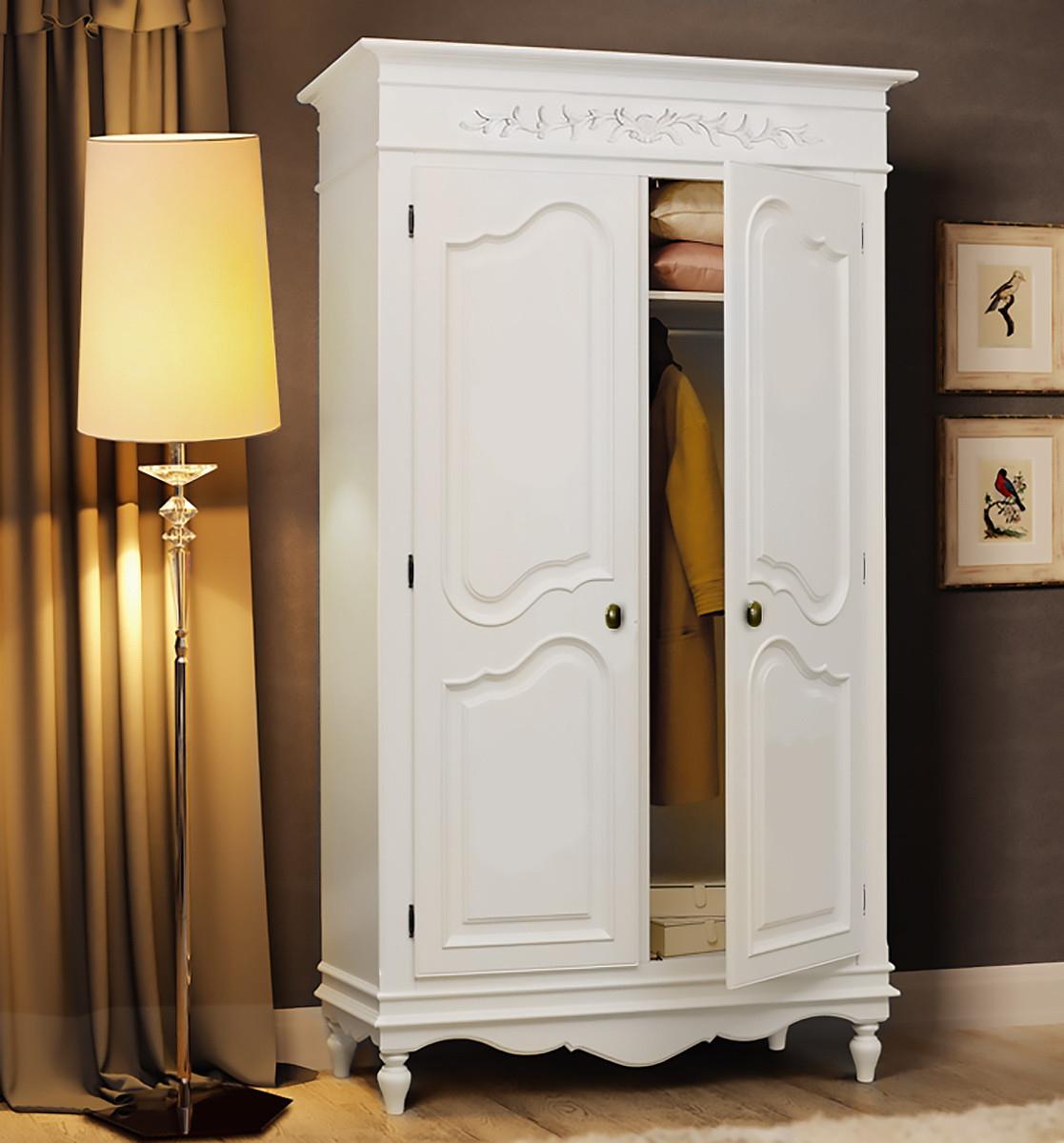 Шкаф двухстворчатый снежный прованс по цене 103500 рублей в .