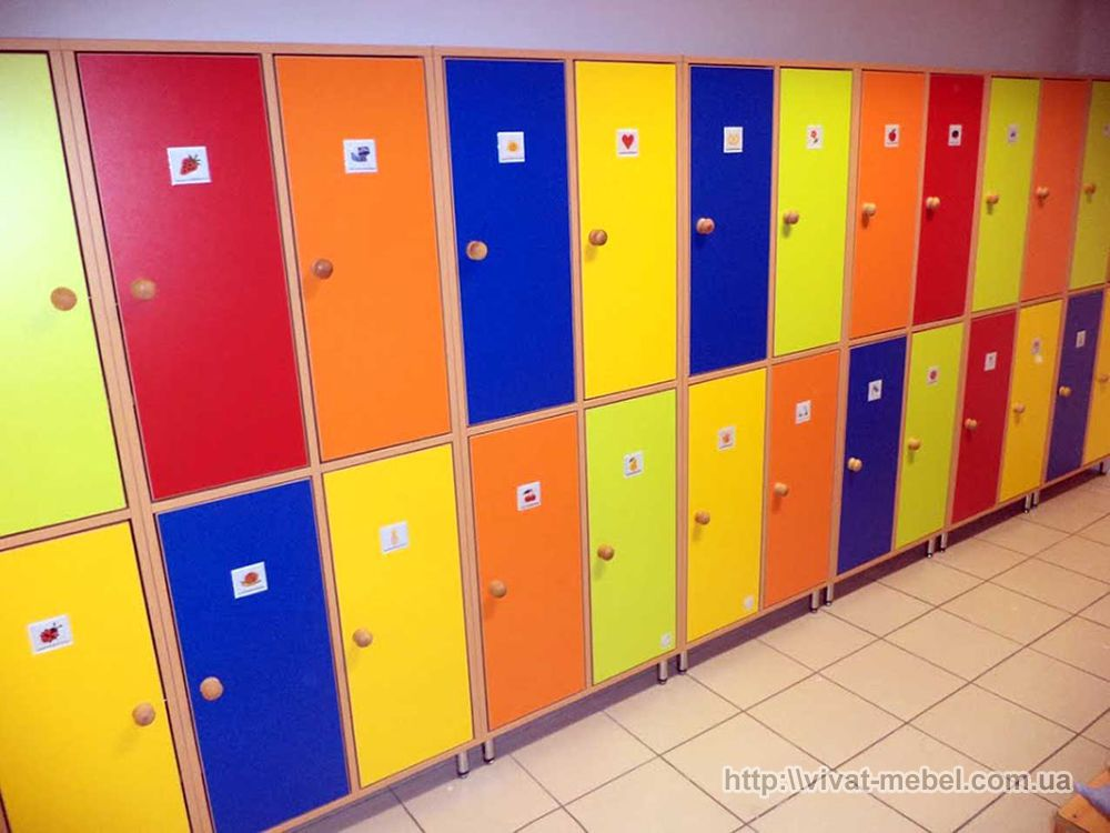 Шкафчики для детского сада, какие бывают и основные требован.
