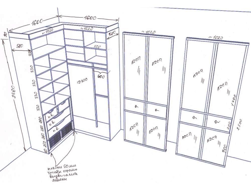 Этапы монтажа шкафа-купе