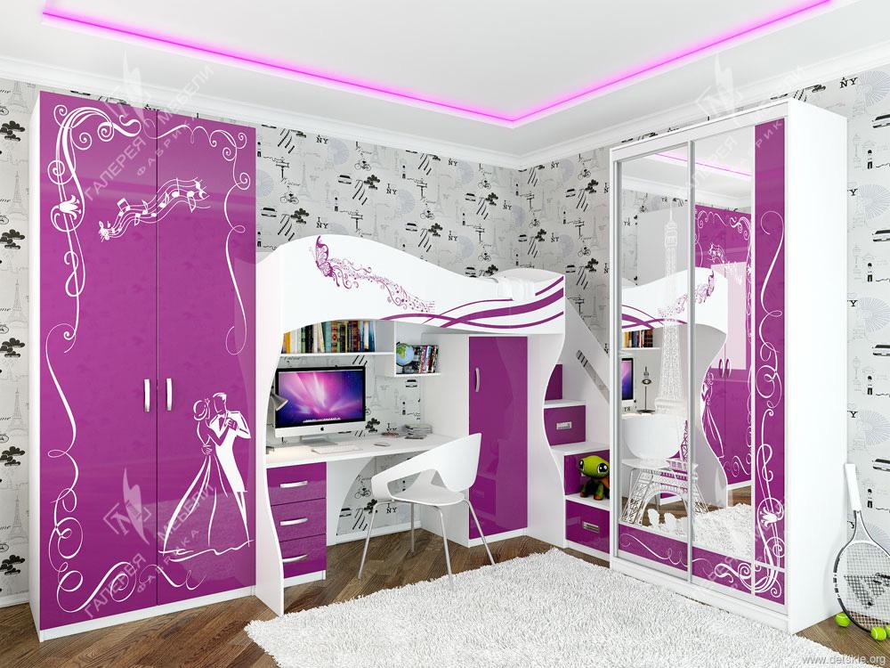 Филетовые цвета в спальне