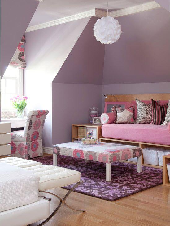 Фиолетовая комната девочки подростка