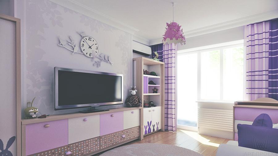 Фиолетовый оттенки интерьера