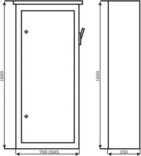 Габаритные размеры распределительных шкафов