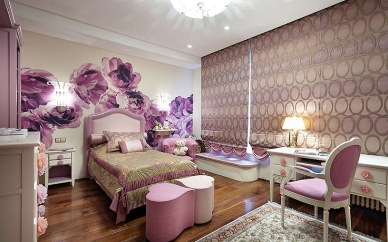 Гламурная детская комната для девочки