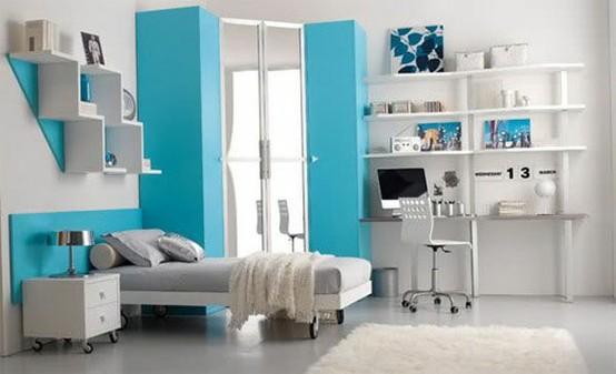 Голубой и серый цвет в дизайне