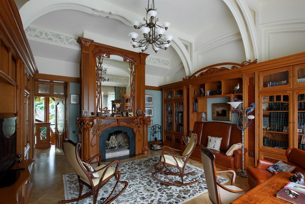 Гостиная с привлекательным интерьером