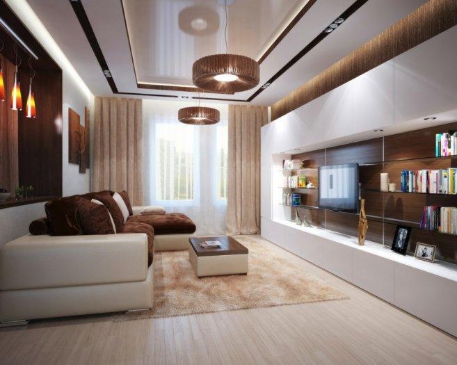 Гостиная в современном стиле оформления