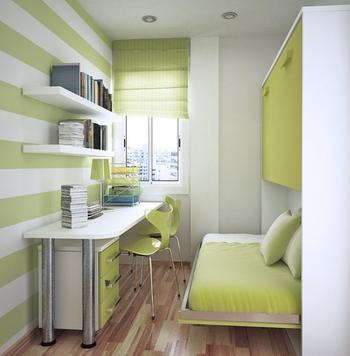 Идеи для маленькой прямоугольной детской комнаты