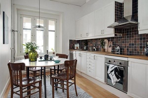 Идея интерьера для просторной кухни