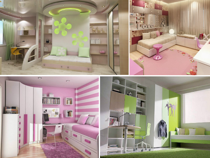 Интересная комната для девочки подростка