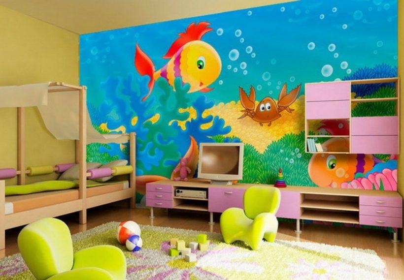 Изображения на стене в детской