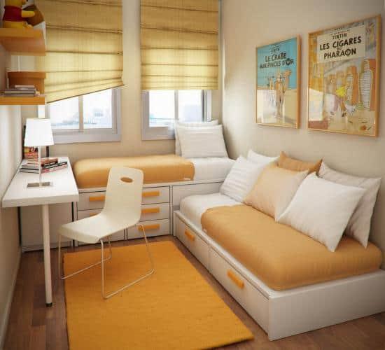 Каа сделать маленькую спальню практичной