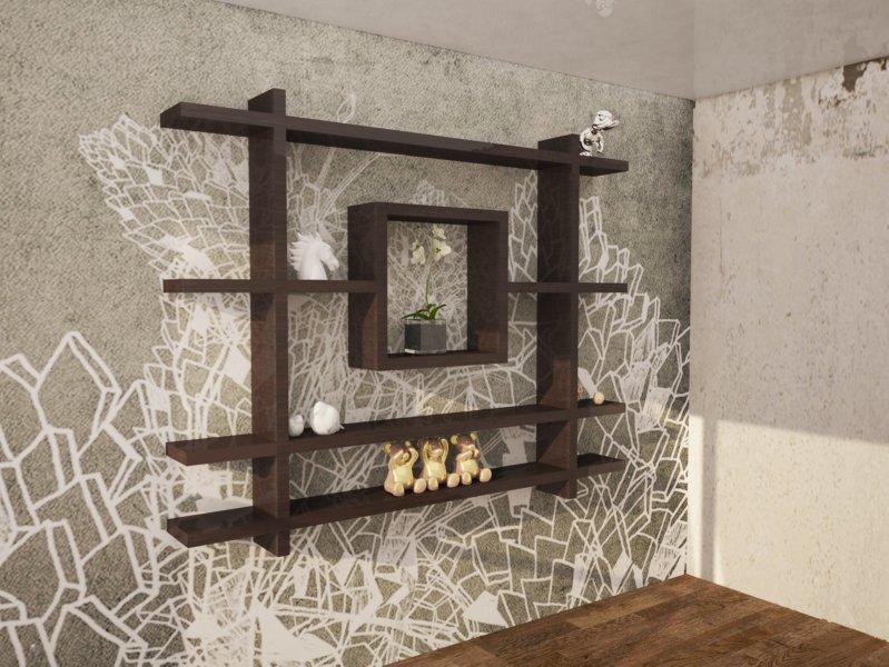 Как красиво оформить стенку в доме