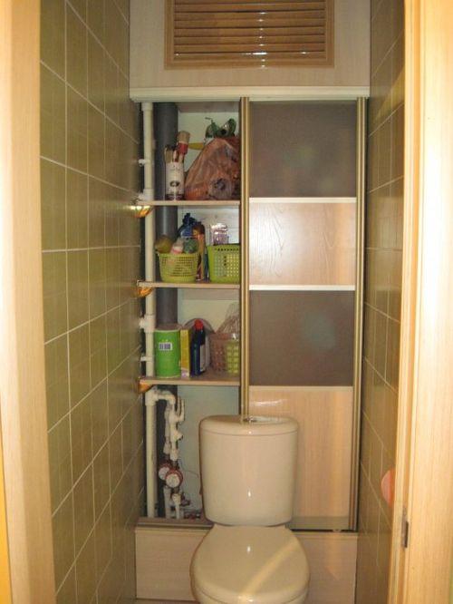 Как можно сделать в туалет полки