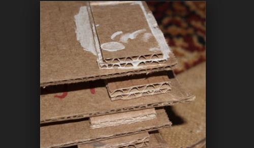 Как прижпть лист картона