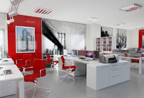 Как сочетаются белый и красный цвет в дизайне