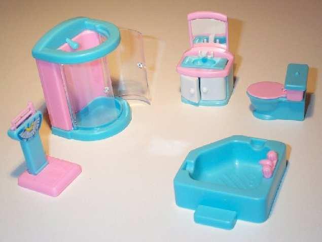 Комплект игрушечной мебели для ванной комнаты