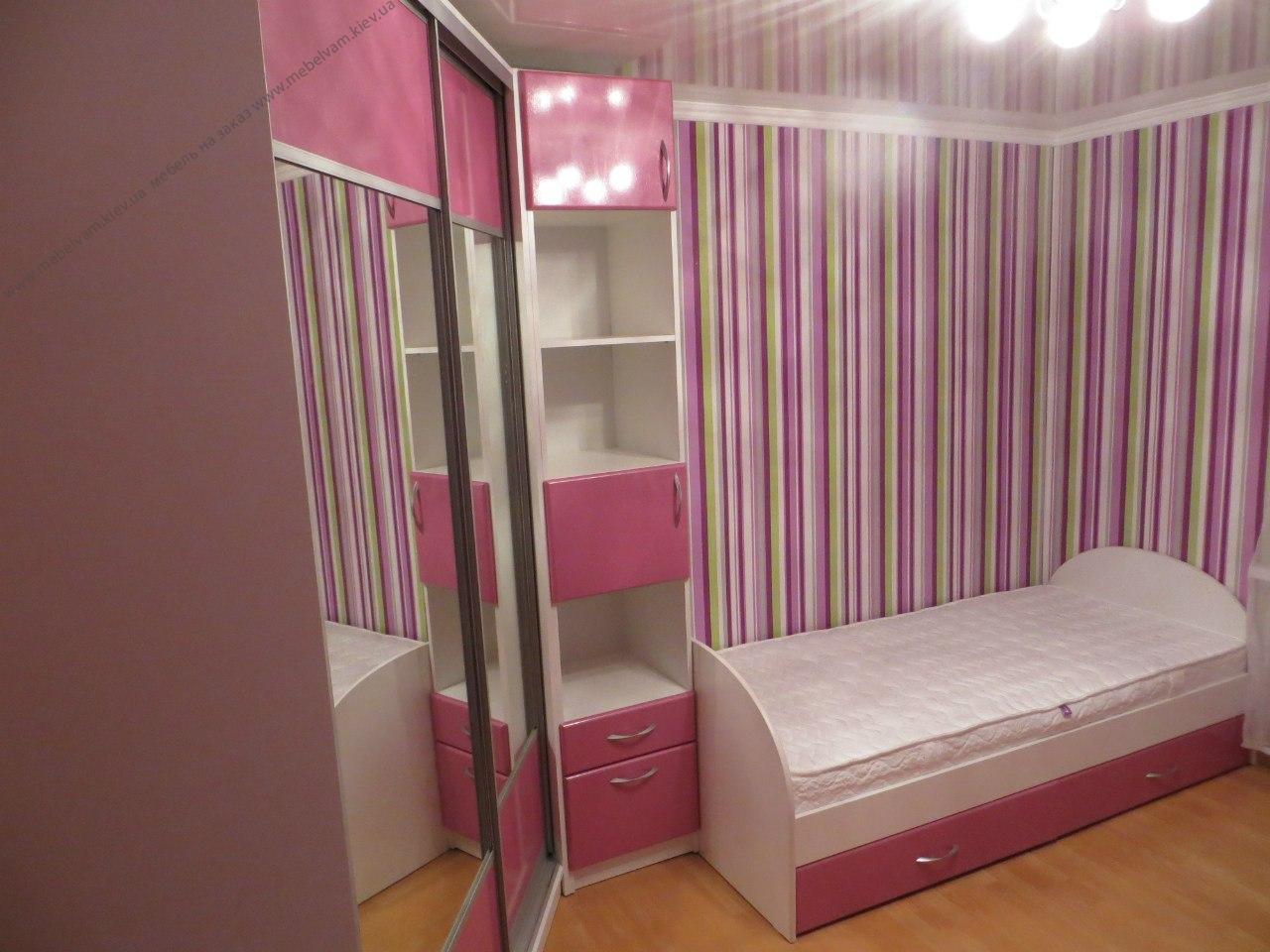 Корпусная мебель в комнату девочки
