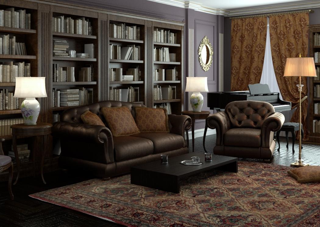 Кожаный малазийский диван