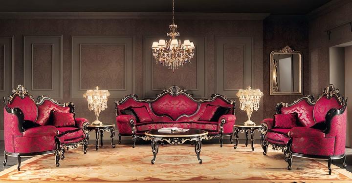 Красные красивые диваны