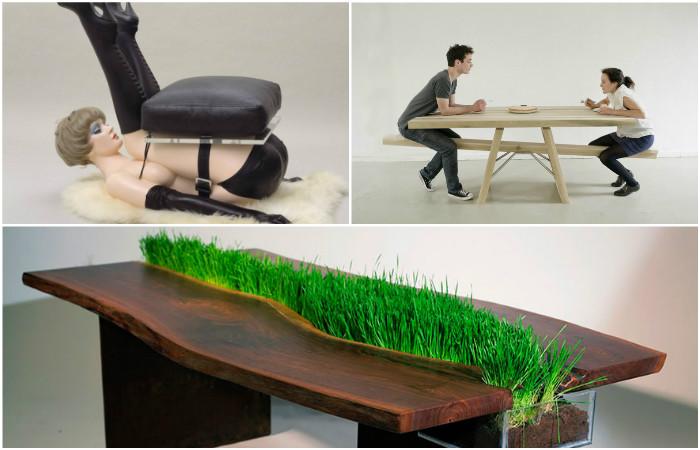 Креативная мебель с травой