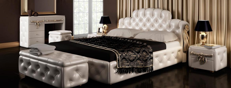 Кровать со стеганными элементами