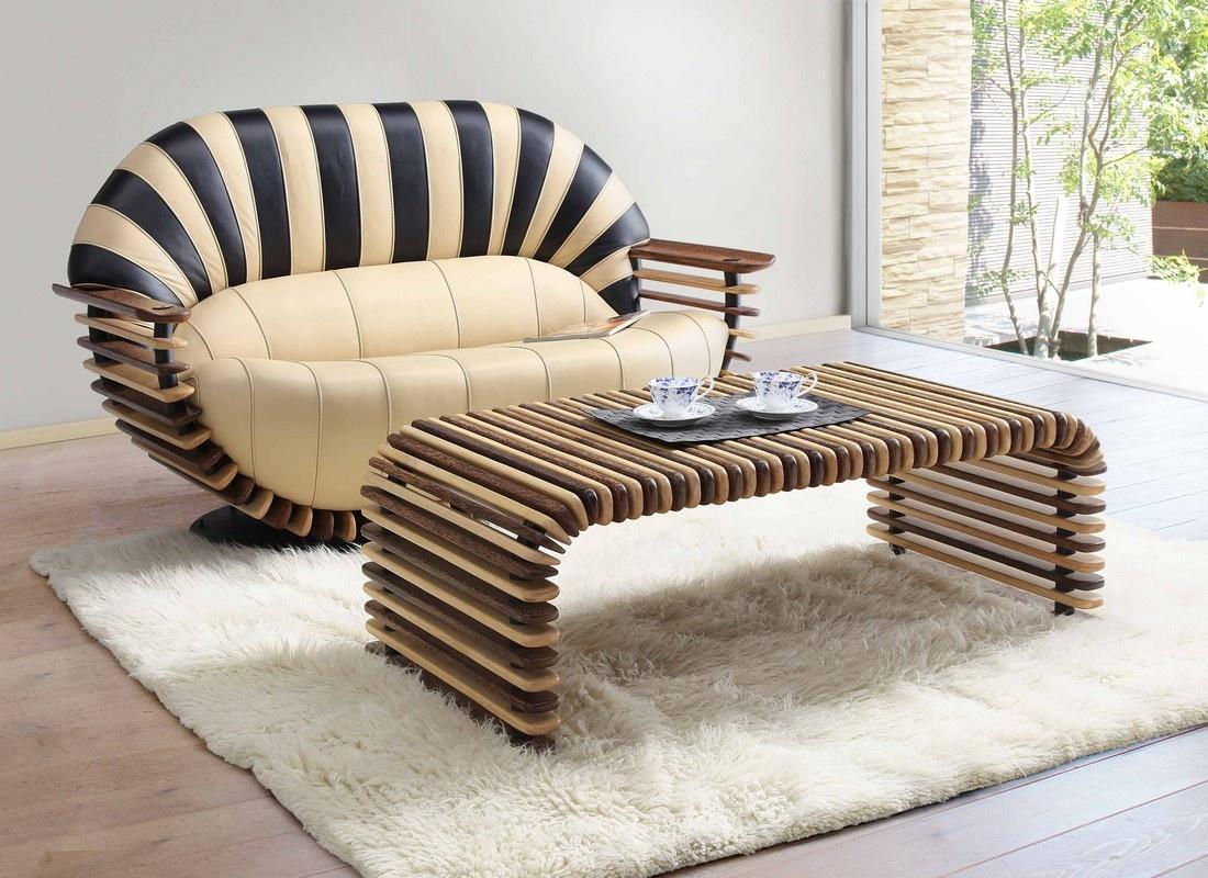 Круглая форма дивана
