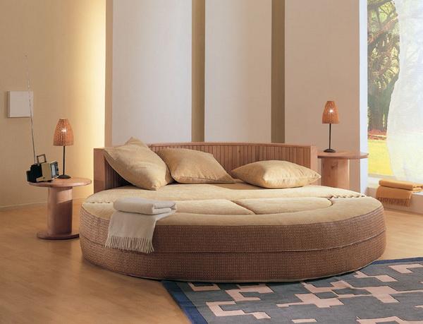 Круглая кровать для дома