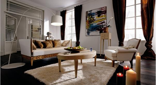 Круговой дизайн гостиной
