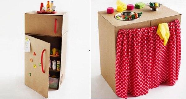 Кухонный гарнитур для игр ребенка своими руками