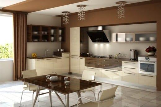 Кухонный гарнитур светлых тонов