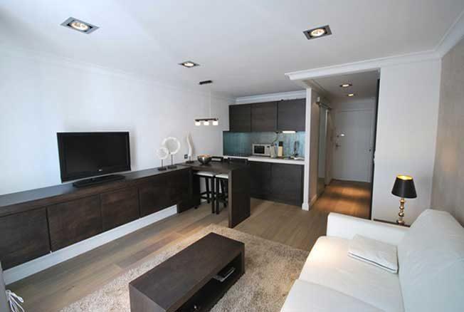 Квартира-студия в современном оформлении
