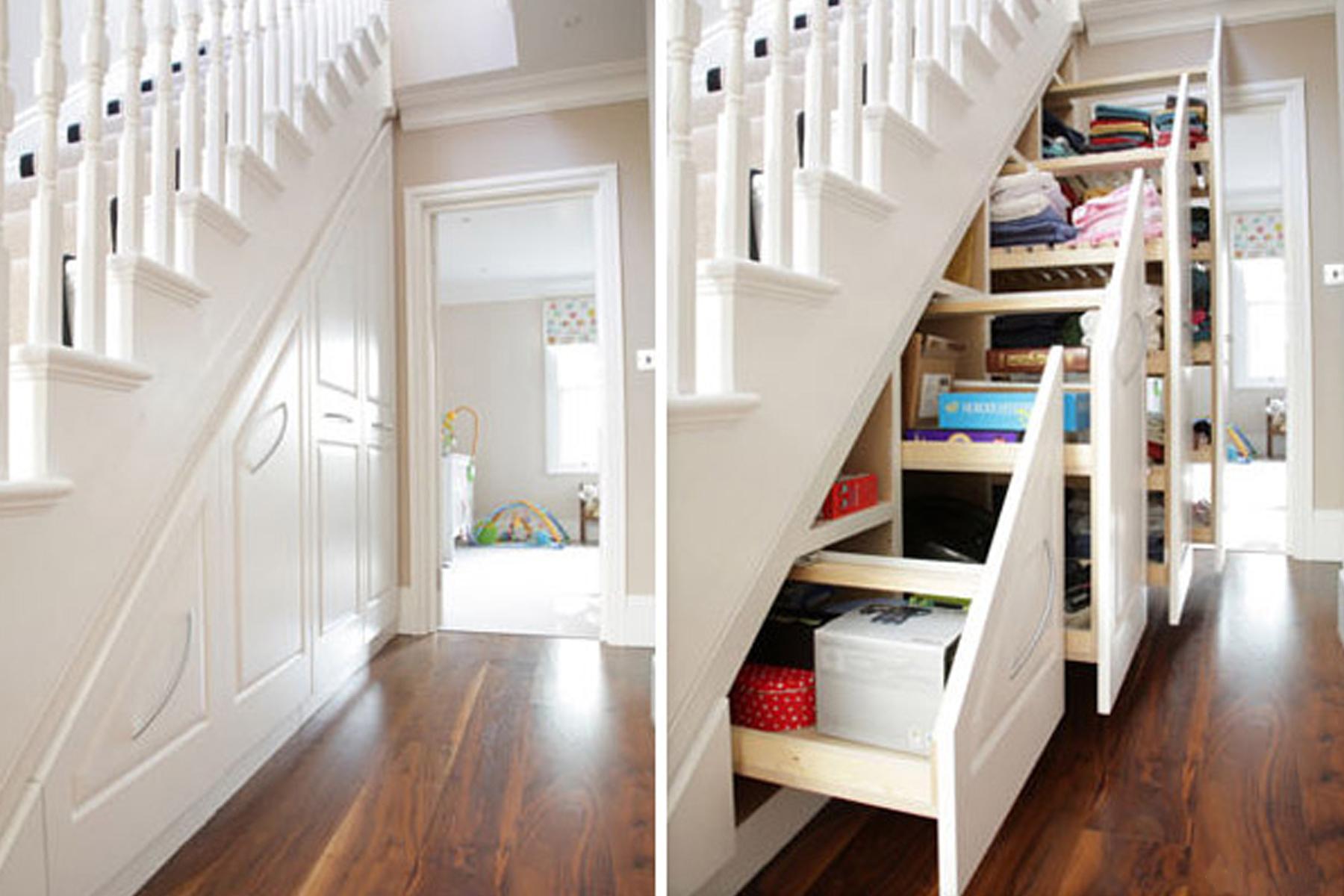 Лестницы с ящиками в ступеньках
