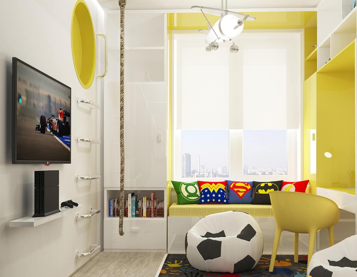 Маленькая детская комната с одним окном