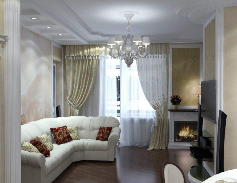 Маленькая красивая гостиная