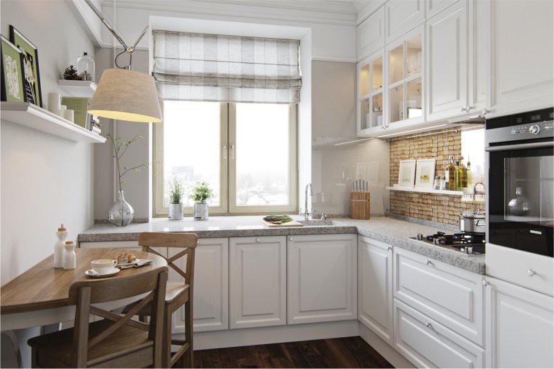 Маленькая кухня с минимумом декора