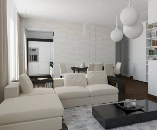 Маленькая практичная мебель для обустройства зала