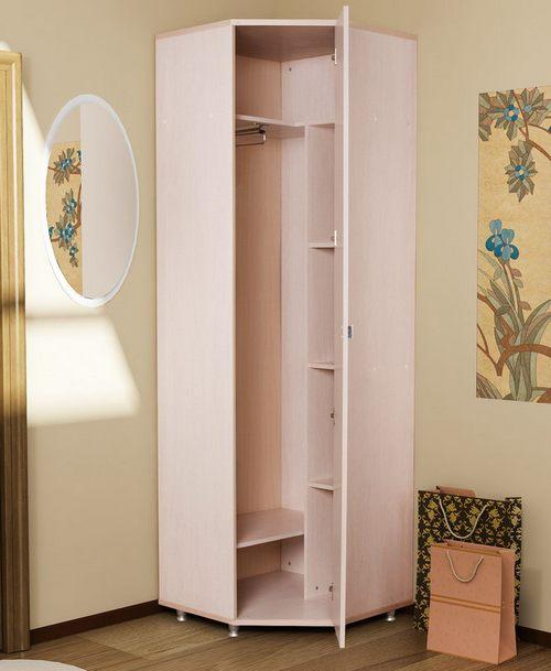 Маленький угловой шкаф для прихожей