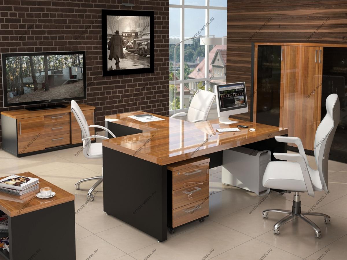 Мебель для кабинета с глянцевыми покрытиями