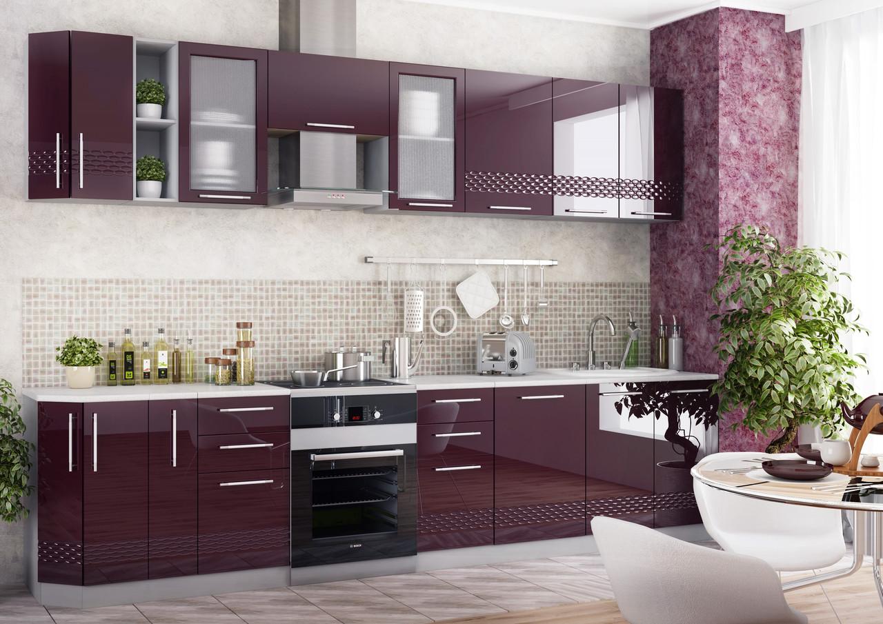 Мебель винного цвета для кухни