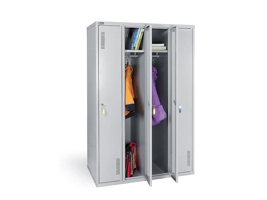 Металлические шкаф для верхней одежды